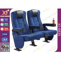 High Back Heavy Spring Fixed Theatre Seating Chairs With Plastic Cup Holder