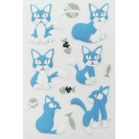 Quality Pet Die Cut 3d Animal Stickers , Handbag Little Cat Puffy Stickers Offset Printing for sale