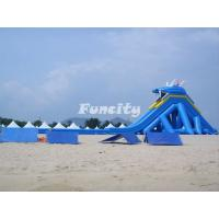 China Big Shark Mouth Inflatable Dry Slides With Long Slide Shark Tooth Shape on sale