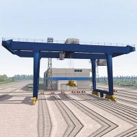 Quality Rtg Container Gantry Crane Double Girder Trolley 50T Lifting Speed Customized for sale