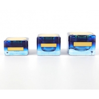 Buy cheap Manufacturer luxury colored eye face cream plastic square empty cosmetic jar from wholesalers