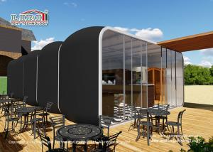 Quality Outdoor coffee Bar House Hotel Inflatable Tent for Hotel Restaurant, Modular Glamping Box Tent for Cafe and Shop for sale