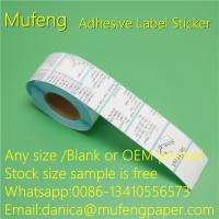 Buy cheap Hot Melt Glue Adhesive Sticker Roll Direct Tehrmal Label With Blue Glassin from wholesalers