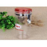China FDA Food Safety Transparent PS Spice Sealed Jars Stainless Steel Clip on sale