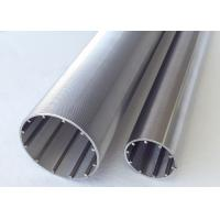 Quality V Slot Filtering Stainless Steel Slot Tube With Profile Transverse Looped And Lengthways Support Rods for sale