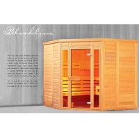 Quality German Traditional Saunas, Sold Wood 4 Person Sauna Room for sale
