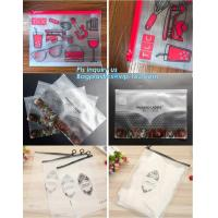 Quality vinyl plastic zipper bags packaging with slider closure, size frosted matte pvc vinyl zipper ziplock plastic packaging b for sale