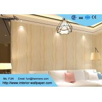 Quality Home Decorating Modern Removable Wallpaper Light Refection with Warm beige color for sale
