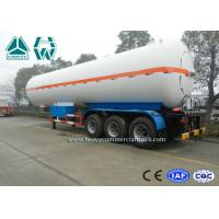Quality White Color LPG Semi Trailer , Propane Transport Trailers With Tri Axle for sale