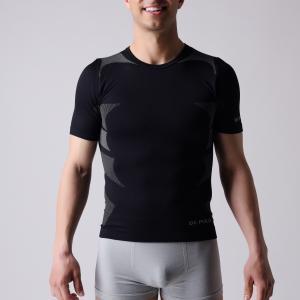 Quality T-shirt,   short sleeve,  Men's sports wear,  black and  grey block,   XLSS002, man underwear,  seamless shirts. for sale
