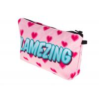 Quality Polytester Waterproof Zippered Cosmetic Bag , Small Makeup Brush Bag For Lady for sale