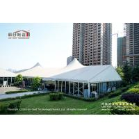 Quality 500 People Outdoor High Peak Tents With Hard Glass Wall for Auto Show for sale