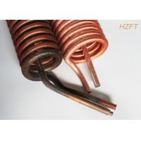 Quality ISO Outer Dia 19.05MM Finned Tube Coils Copper or Copper Nickel for sale