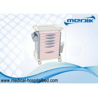 China Luxury Drug Medical Storage Carts / Medication Carts For Hospitals Cream Color on sale