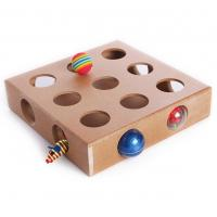 Quality MDF Wooden Cat Stimulation Toys Moveable Rattle Balls Inside Ecologically Friendly for sale