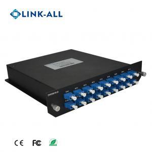 Quality Good Price Dual Fiber Bi-Direction 8 Services 8 Wavelength CWDM MUX/DEMUX for sale
