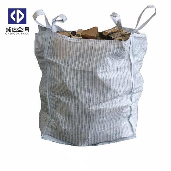 Buy Ventilated FIBC Bulk Bags / Bulk Firewood Bags For Potato Onion Vegetables at wholesale prices