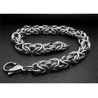 Quality Adjustable Silver Stainless Steel Bangle Bracelets With Double Bone Charms Link for sale