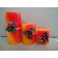 Quality Non-poison scented pillar candles for holiday promotion, travel for sale
