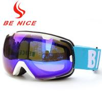 Interchangeable Spherical Mirrored Ski Goggles Dual Lens UV Protection