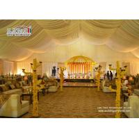 Buy cheap roof top outdoor exhibition tents decoration lining curtain