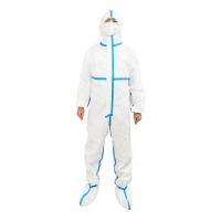 Buy cheap Medical Non Woven Conjoined CE FDA XXL Pressed Disposable Isolation Gown from wholesalers