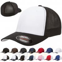 Buy cheap Structure Soft Mesh Polyester Trucker Mesh Plain Cotton Baseball Caps Curved from wholesalers