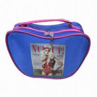 Quality Promotional cosmetic bag with apple shape, full color printing on front for sale