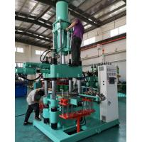 Buy cheap Green Vertical Rubber Injection Moulding Machine Vulcanizing Temperature from wholesalers