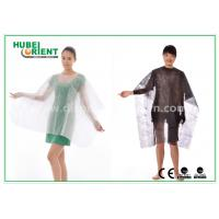 Quality Polypropylene Soft Disposable Nonwoven Hair Cutting Cape with Velcro Closure for sale