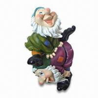 Quality Polyresin Garden Dwarf/Gnome Decoration, OEM Designs and Sizes are Accepted for sale