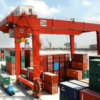 Quality Ship To Shore Quayside Container Gantry Crane Frequency Conversion 8 - 28m for sale