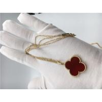 Quality 18k Gold Chain Necklace With Carnelian , Simple Gold Necklace No Diamond for sale