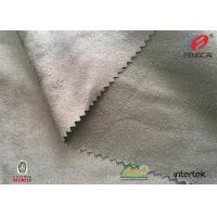 Warp Knitting Microfiber Suede Upholstery Fabric , Silver Poly Suede Fabric