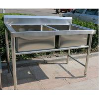 Corrosion Resistant Stainless Steel Display Racks Double Bowl ...