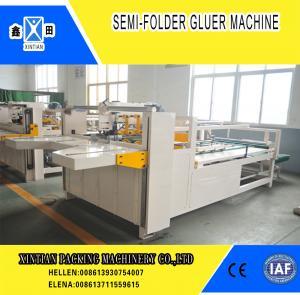 China Semi Automatic Paper Folding Machine / Gluing Machine With 260mm Min Feeding Size on sale