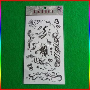 China Black Tattoo Sticker,Custom Black Temporary Tattoos,Tattoos Temporary on sale