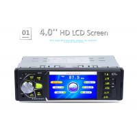 Quality Single Din 4 Inch Touch Screen Car Stereo Black With Radio Bluetooth for sale