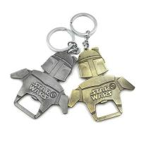 China Die casting cool innovative star wars 2D souvenir beer bottle opener keychain, copper and bronze plating. on sale