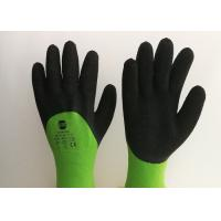 Quality Acrylic Liner Crinkled Latex Coated Gloves Double Dipping Palm Pattern for sale