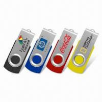 Buy cheap Swivel 1GB, 2GB, 4GB, 8GB, 16GB Metal USB Flash Drive compatible with PC AT-027 from wholesalers