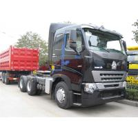 Quality SINOTRUK HOWO A7 Tractor Head , Heavy Duty 420 HP Prime Mover 6x4 Tractor Head for sale