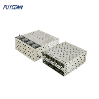 Buy cheap 2*4 8port 160 Position SFP Female Press Fit Connector from wholesalers