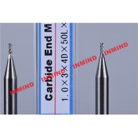 Quality Carbide / Aluminum End Mill with HRC50 Hardness 45 Degree Helix Angle for sale