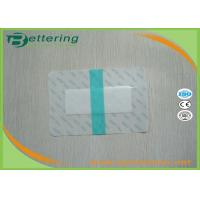 China Medical Sterile permeamble transparent waterproof PU film IV wound dressing with absorbent pad economic non frame type on sale