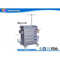 Quality ISO Quality 5 Drawers Emergency Medical Trolley crash cart utility trolley for sale