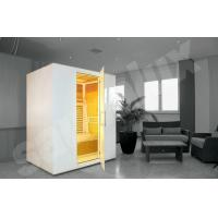 Quality Ceramic Infrared Sauna Room, Solid Wood Home Sauna Kit for 3 Person for sale