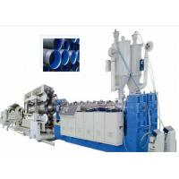 Quality PVC Double Wall Corrugated Pipe Plastic Extrusion Machine , PVC Corrugated Pipe Extrusion Line for sale