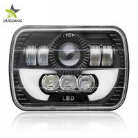 Buy cheap Thin Section 5 By 7 Led Headlights Sealed Beam 55 W / 25 W Angel Eye from wholesalers