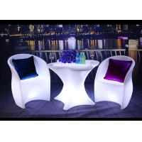 PE Swimming Pool Outdoor Furniture With LED Lighting Customized Colors